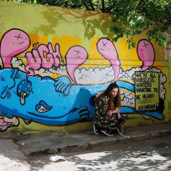 Yara Hindawi, le street art au goût du jour en Jordanie