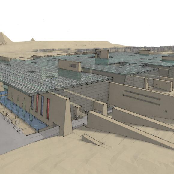 Le Grand Musée Égyptien (GEM) en construction au Caire, nouveau trésor de l'Égypte et défi pour l'avenir