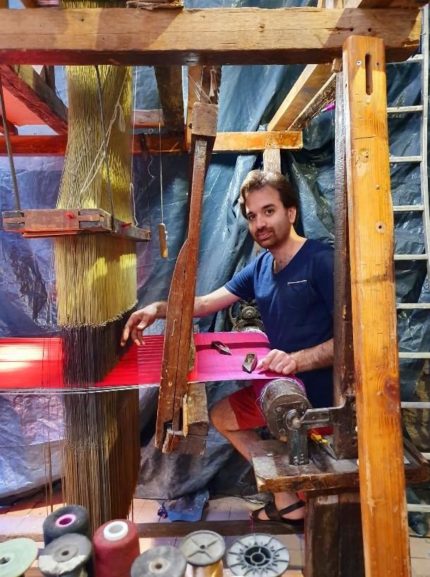 Kinan Tafish, un tisserand d'art sans frontière